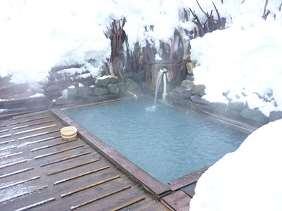 The atmosphere of the secluded hot spring can be fully enjoyed.