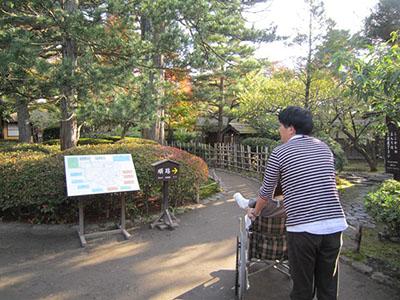 Japanese garden with tea room
